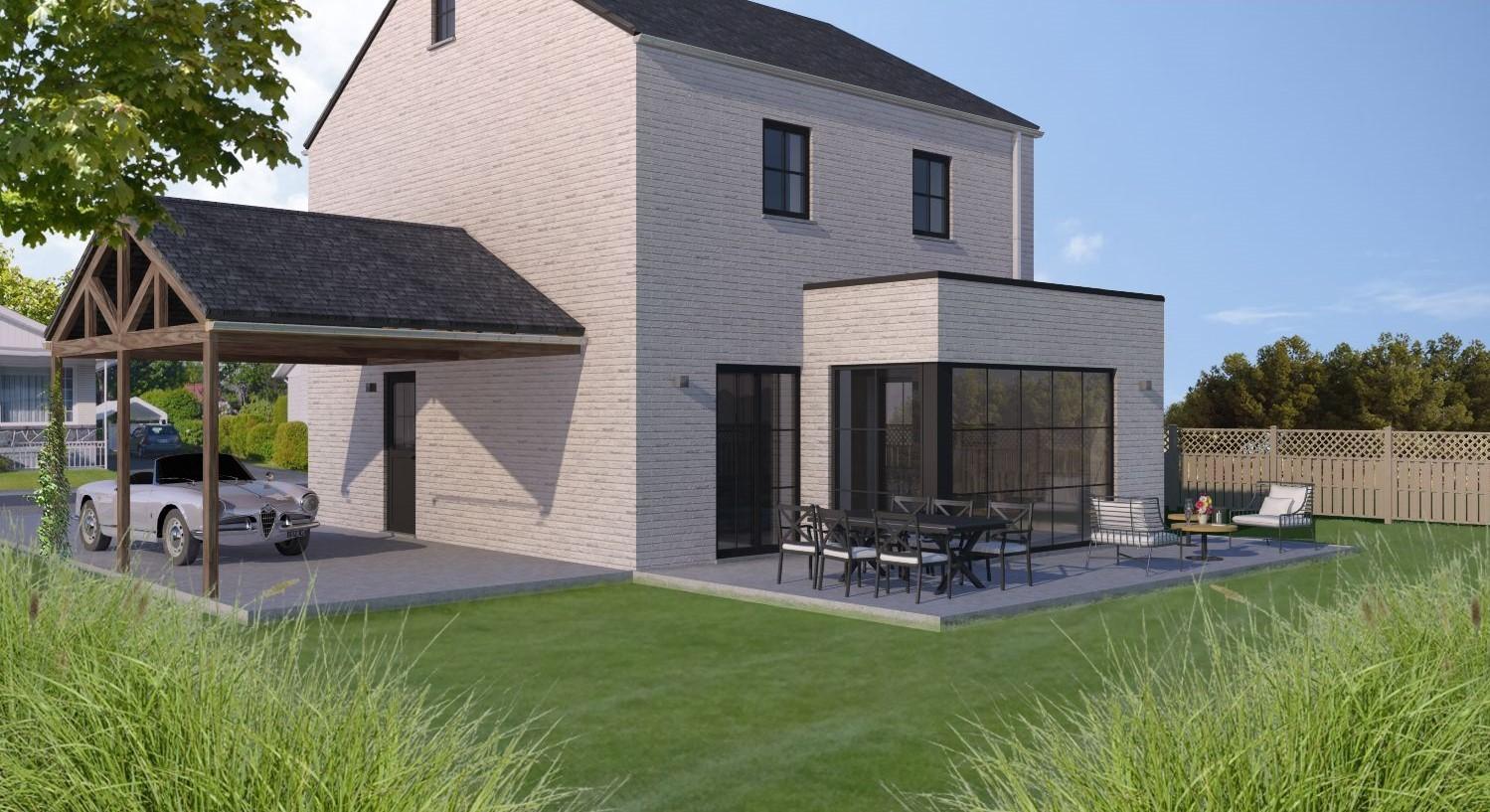 Lot 39 Open bebouwing in manoir-stijl in Aarschot